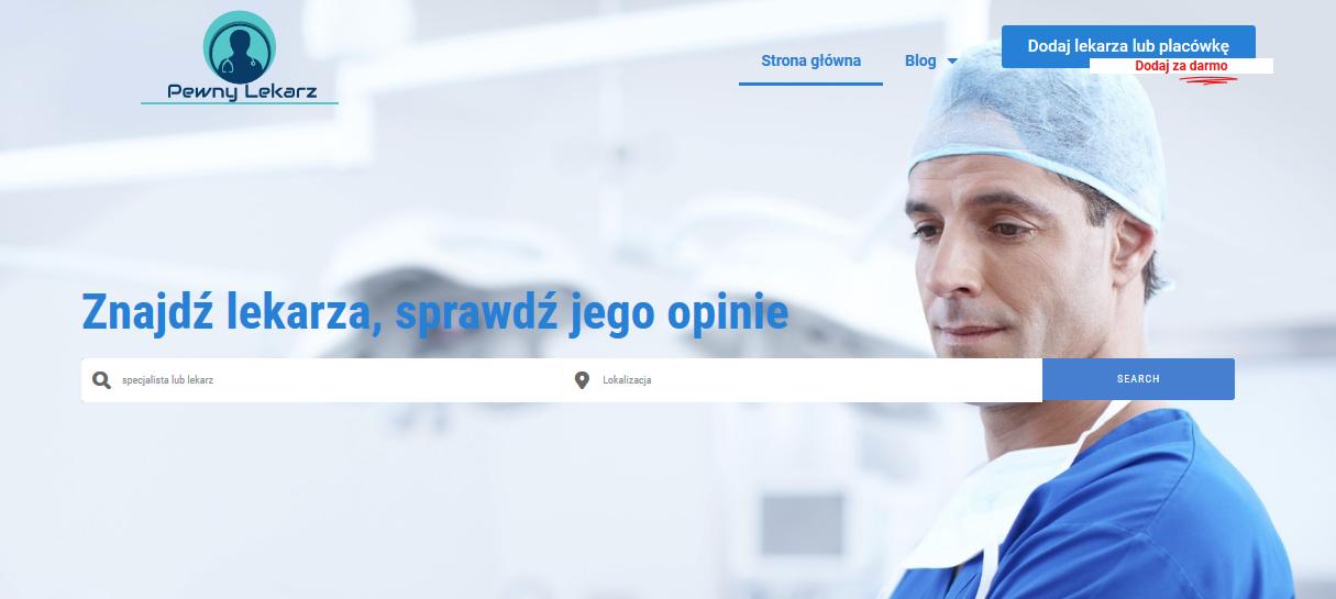 Szukasz lekarza? Skorzystaj z wyszukiwarki, która znajduje się na stronie pewnylekarz.pl!